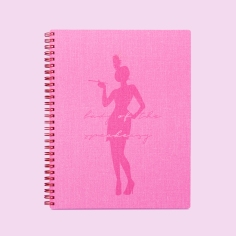 blossom pink notebook
